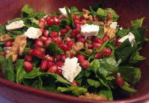 spinach salad pomegranate