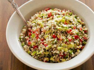 Bulgur and pease salad