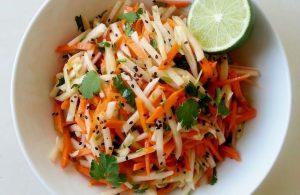 Turnip Salad and Carrot salad